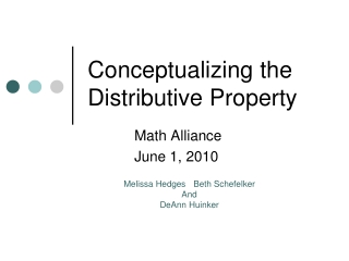 Conceptualizing the Distributive Property