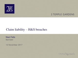 Claim liability – H&S breaches