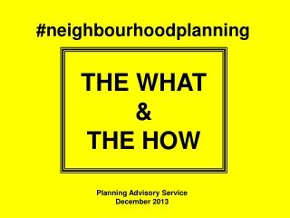 #neighbourhoodplanning