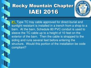 Rocky Mountain Chapter           IAEI 2016