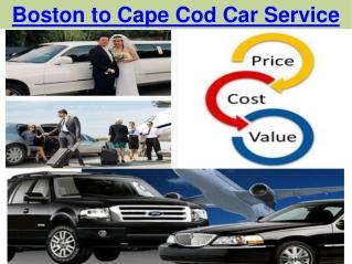 Boston to Cape Cod Car Service