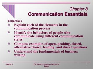Chapter 8 Communication Essentials