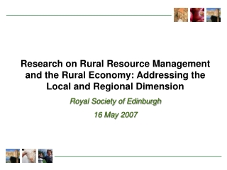 Rural Economy and Land Use Programme