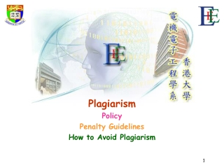 Plagiarism Policy Penalty Guidelines How to Avoid Plagiarism