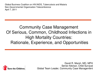 Global Business Coalition on HIV/AIDS, Tuberculosis and Malaria