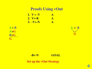 Proofs Using vOut