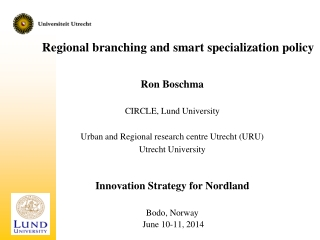 Regional branching and smart specialization policy