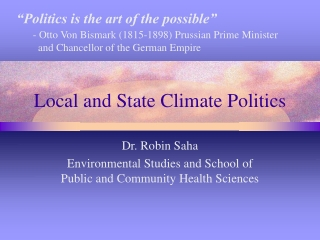 Local and State Climate Politics