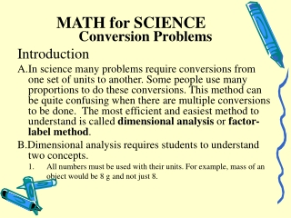 MATH for SCIENCE