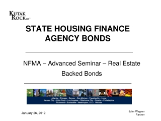 NFMA – Advanced Seminar – Real Estate Backed Bonds