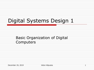 Digital Systems Design 1