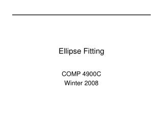 Ellipse Fitting