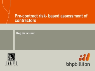 Pre-contract risk- based assessment of contractors