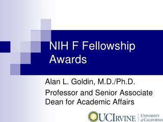 NIH F Fellowship Awards