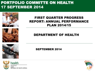 FIRST QUARTER PROGRESS REPORT: ANNUAL PERFORMANCE PLAN 2014/15