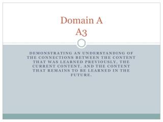 Domain A A3