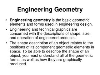 Engineering Geometry