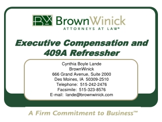 Executive Compensation and 409A Refressher