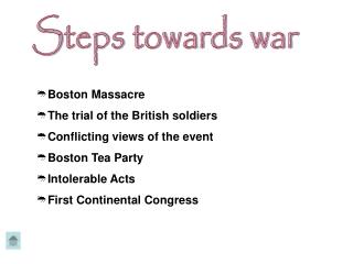 Steps towards war