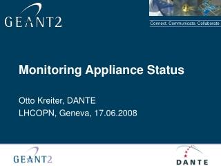Monitoring Appliance Status