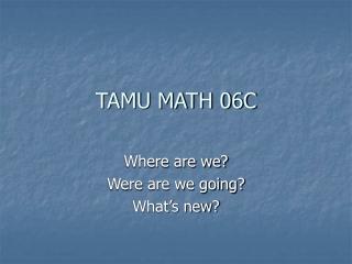 TAMU MATH 06C