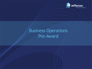 Business Operations Pre-Award