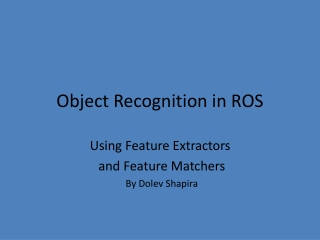 Object Recognition in ROS