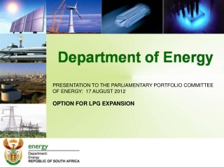 PRESENTATION TO THE PARLIAMENTARY PORTFOLIO COMMITTEE OF ENERGY:  17 AUGUST 2012