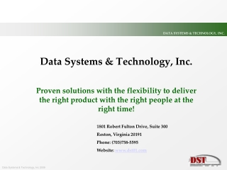 Data Systems & Technology, Inc.