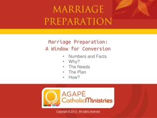 Marriage Preparation: A Window for Conversion