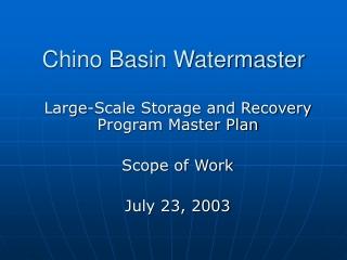 Chino Basin Watermaster