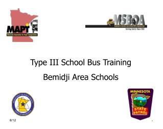 Type III School Bus Training Bemidji Area Schools