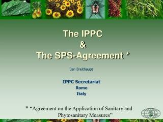 Jan Breithaupt IPPC Secretariat Rome Italy