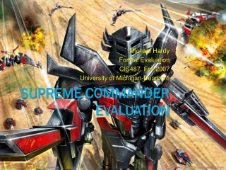 Supreme Commander Evaluation