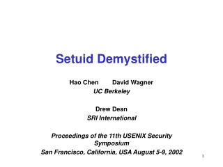 Setuid Demystified