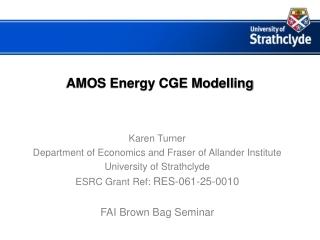 AMOS Energy CGE Modelling