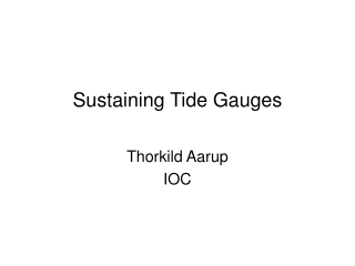 Sustaining Tide Gauges