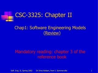CSC-3325:  Chapter II