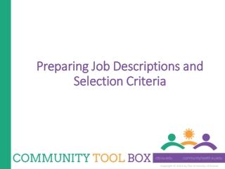 Preparing Job Descriptions and Selection Criteria