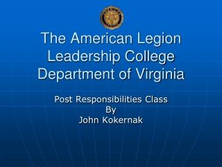 The American Legion Leadership College Department of Virginia
