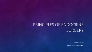 Principles of endocrine surgery