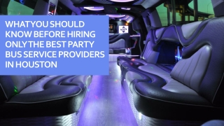 What You Should Know Before Hiring Only The Best Party Bus Service Pro