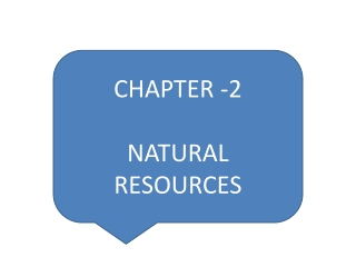 CHAPTER -2 NATURAL RESOURCES