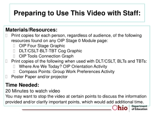Preparing to Use This Video with Staff: