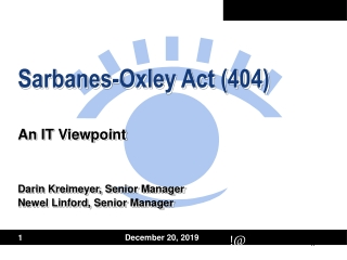 Sarbanes-Oxley Act (404)