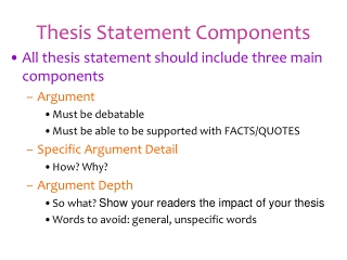 Thesis Statement Components