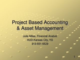 Project Based Accounting & Asset Management