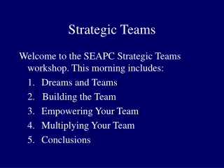 Strategic Teams