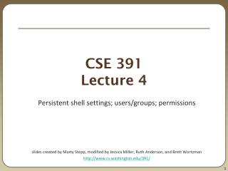 CSE 391 Lecture 4