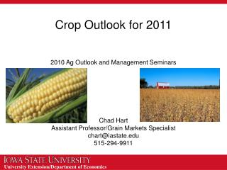 Crop Outlook for 2011